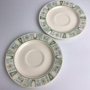 Vintage Taylorware Saucers Tea Cup Starburst 50s